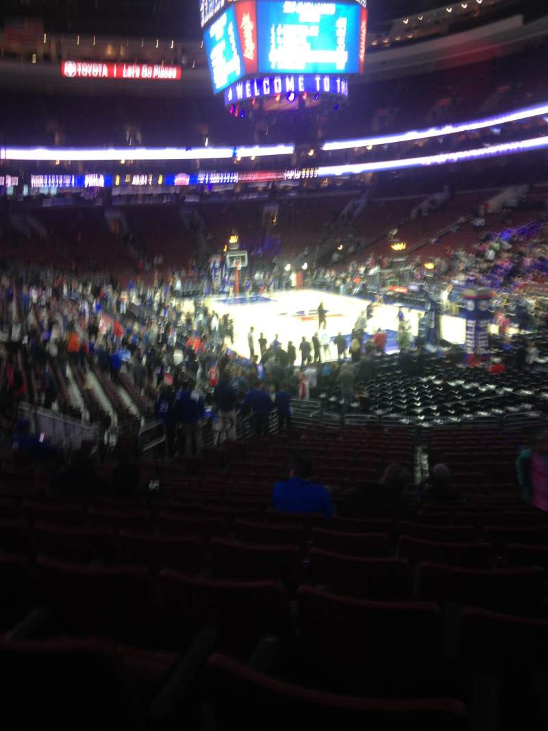 Seating view for Wells Fargo Center Section 105 Row 20 Seat 11
