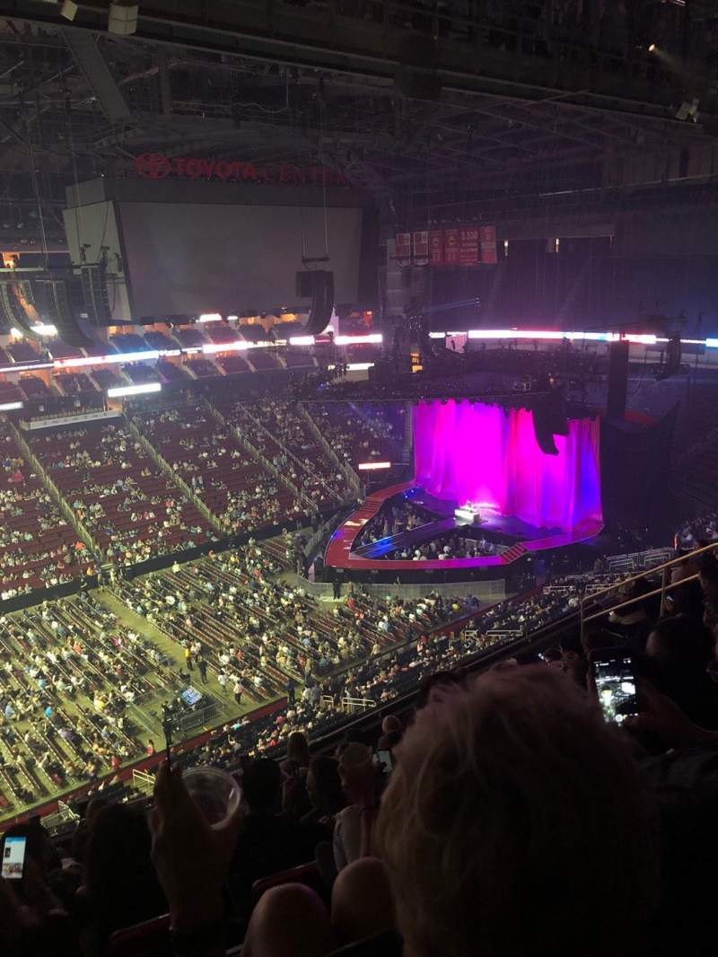 Toyota Center, section: 412, row: 9, seat: 17