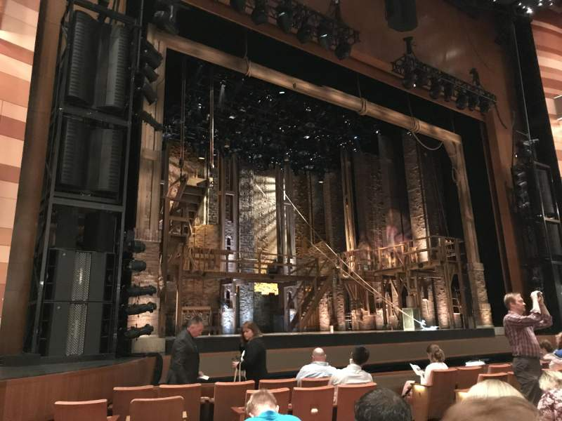 Seating view for Eccles Theater Section Orchestra L Row G Seat 118
