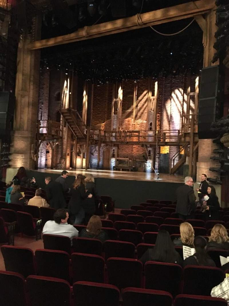 Seating view for CIBC Theatre Section Orchestra R Row Q Seat 12