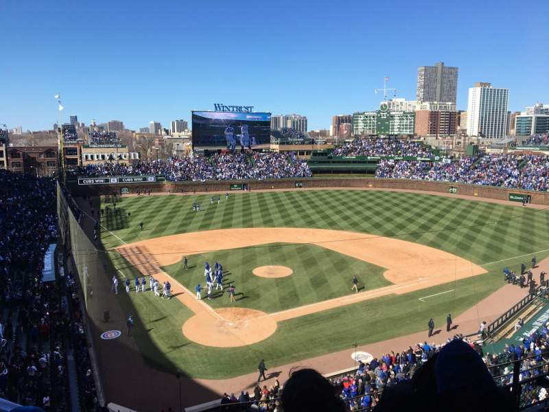 Seating view for Wrigley Field Section 319R Row 6 Seat 14