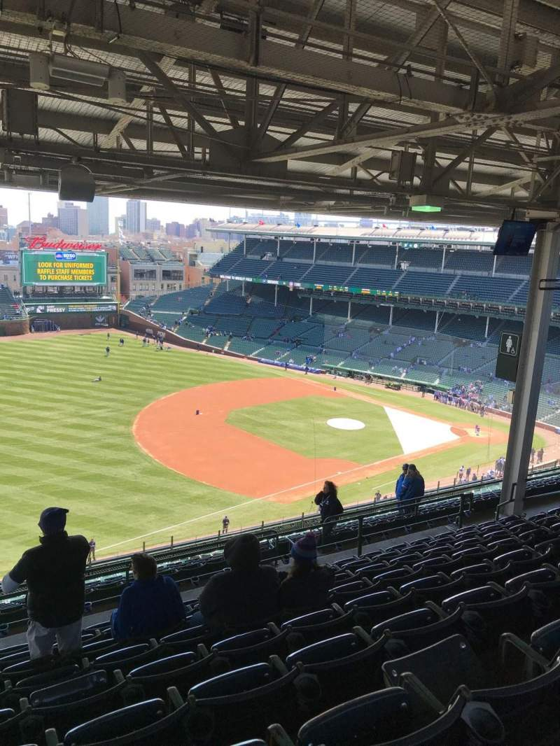 Seating view for Wrigley Field Section 407L Row 9 Seat 3