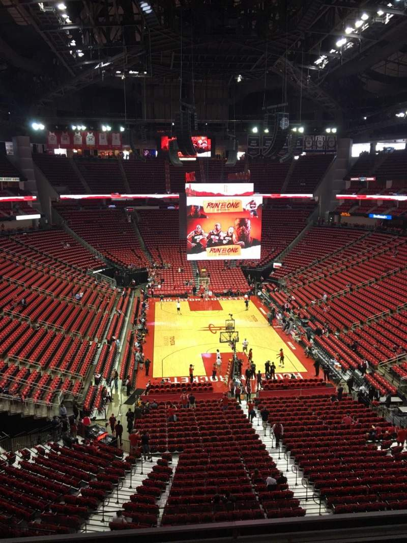 Seating view for Toyota Center Section 402 Row 4 Seat 4