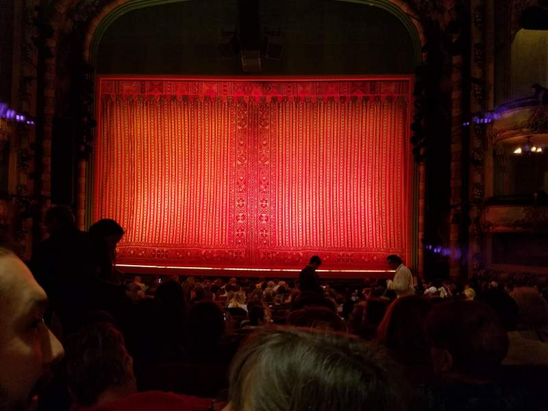 Seating view for New Amsterdam Theatre Section Orchestra C Row S Seat 104