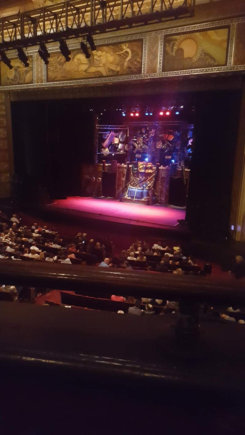 Seating view for Hollywood Pantages Theatre Section Mezz Row A Seat 2