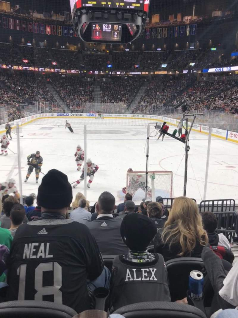 T-Mobile Arena, section: 10, row: H, seat: 12
