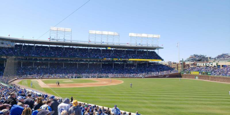 Seating view for Wrigley Field Section 233 Row 10 Seat 5