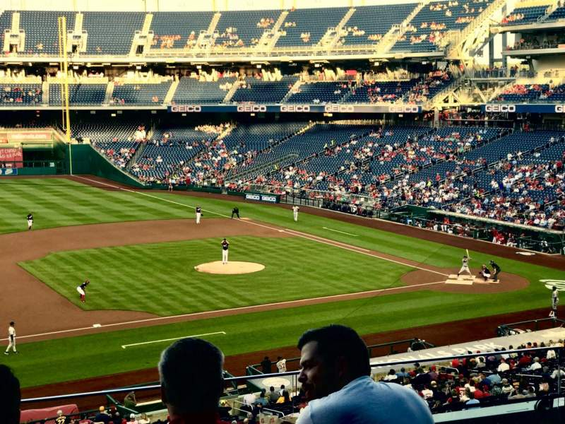 Seating view for Nationals Park Section 207 Row E Seat 18