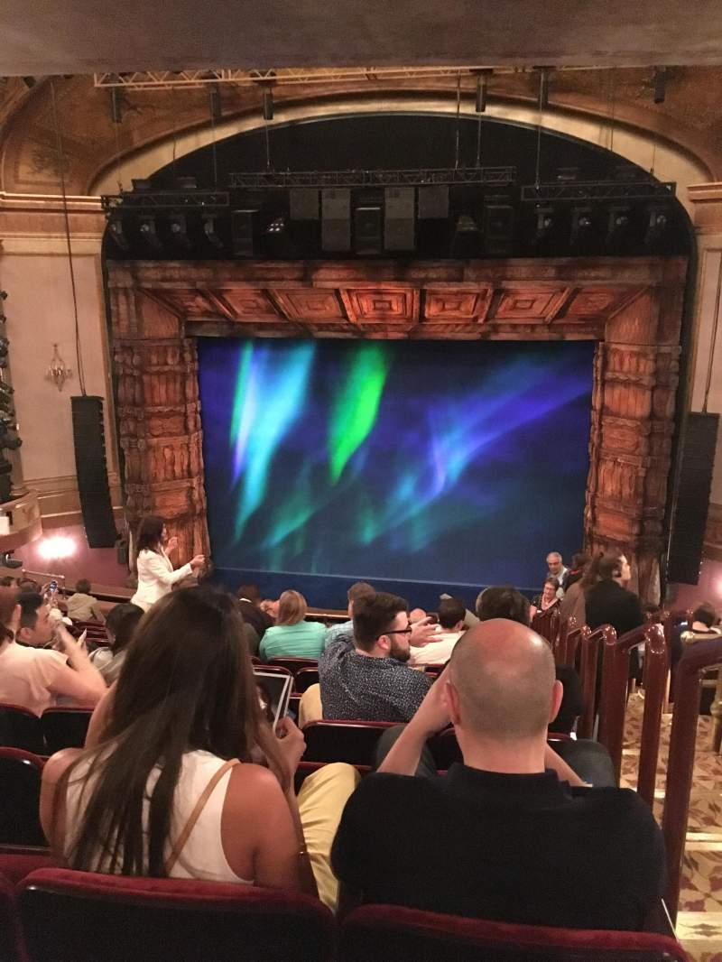 Seating view for St. James Theatre Section Mezzanine C Row O Seat 101