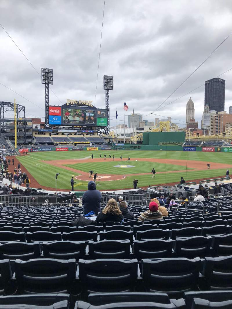 PNC Park, section: 115, row: U, seat: 8