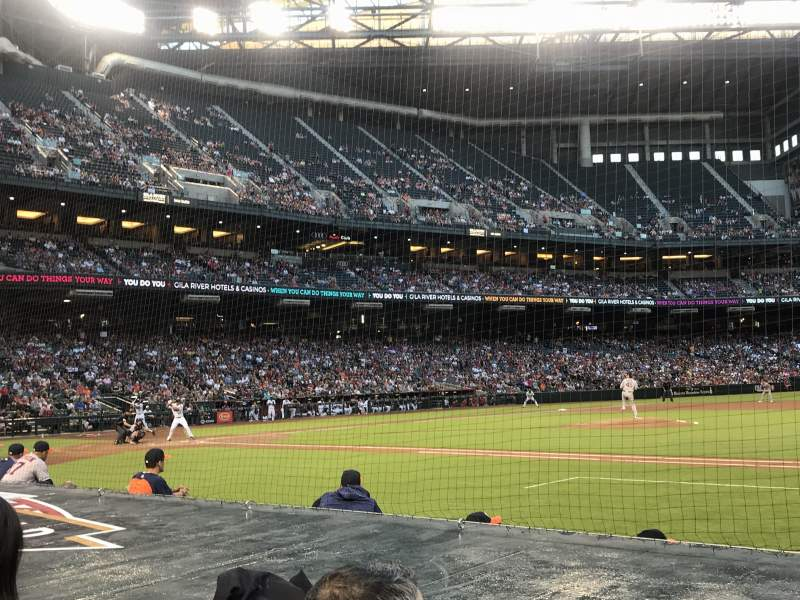 Seating view for Chase Field Section D Row 7 Seat 1 and 2