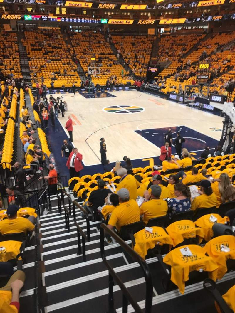 Vivint Smart Home Arena, section: 12, row: 13, seat: 1