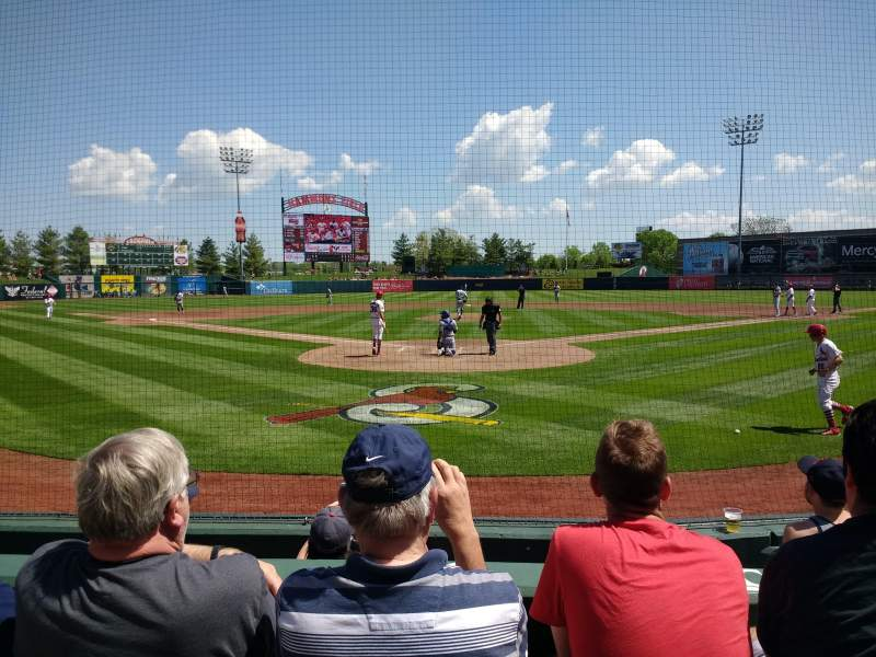 Seating view for Hammons Field Section H Row 5 Seat 6