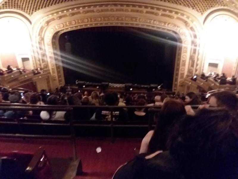 Seating view for tivoli theatre Section Uppbalc care rht Row K Seat 102