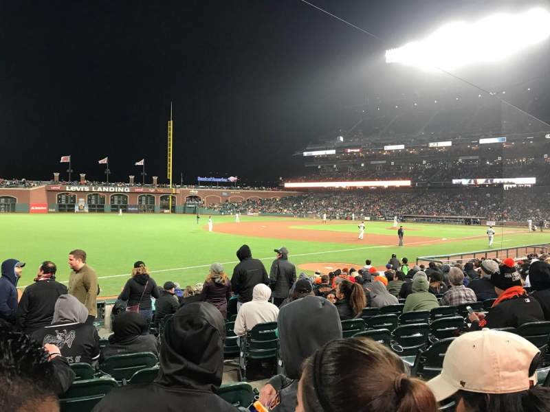 Seating view for Oracle Park Section LB129 Row 16 Seat 3