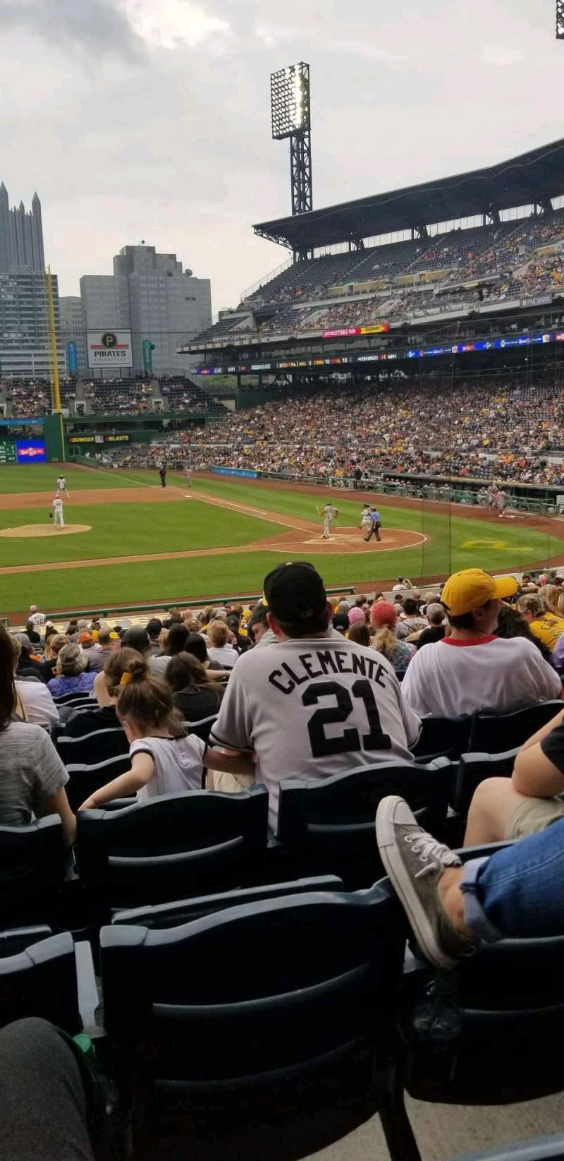 Seating view for PNC Park Section 121 Row u Seat 16