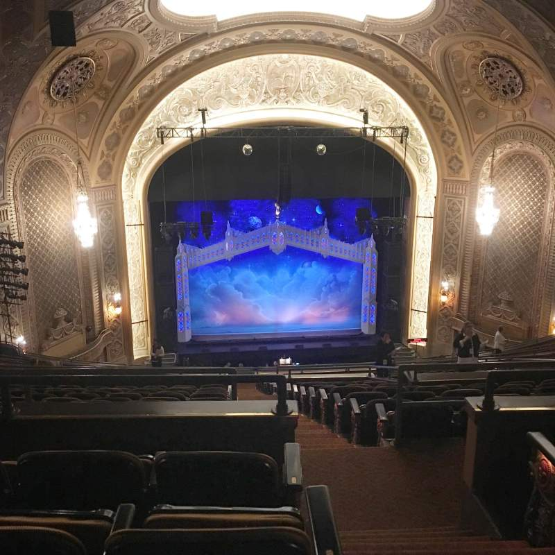 Seating view for Paramount Theatre (Seattle) Section Mezzanine 32 Row X Seat 9