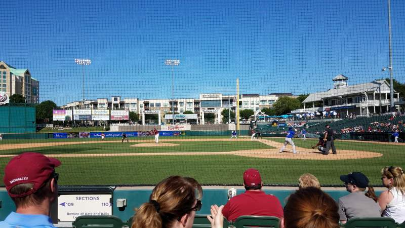 Seating view for Dr Pepper Ballpark Section 110 Row 4