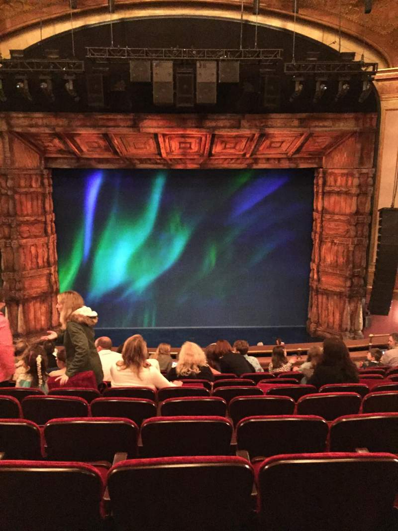 Seating view for St. James Theatre Section Mezzanine C Row K Seat 110
