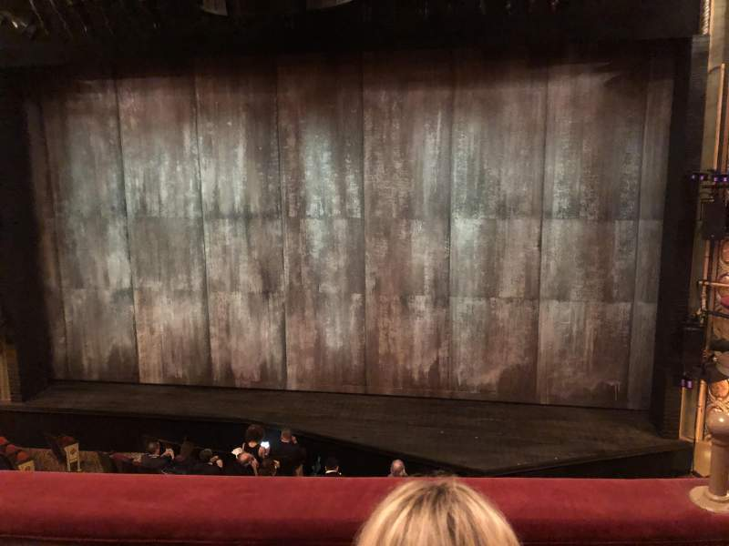 Seating view for Bernard B. Jacobs Theatre Section MezzC Row B Seat 102