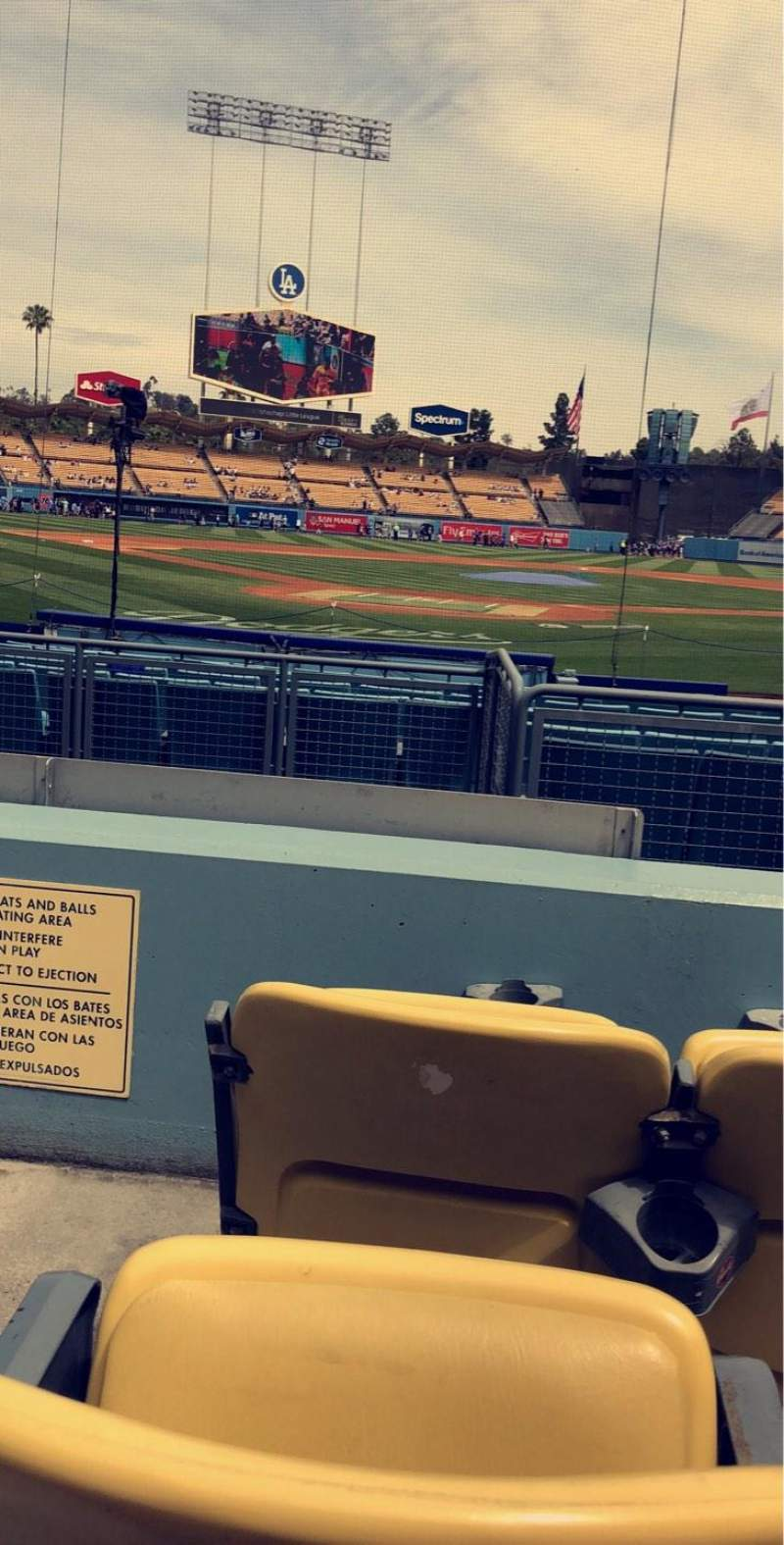 Seating view for Dodger Stadium Section 4FD Row C Seat 1