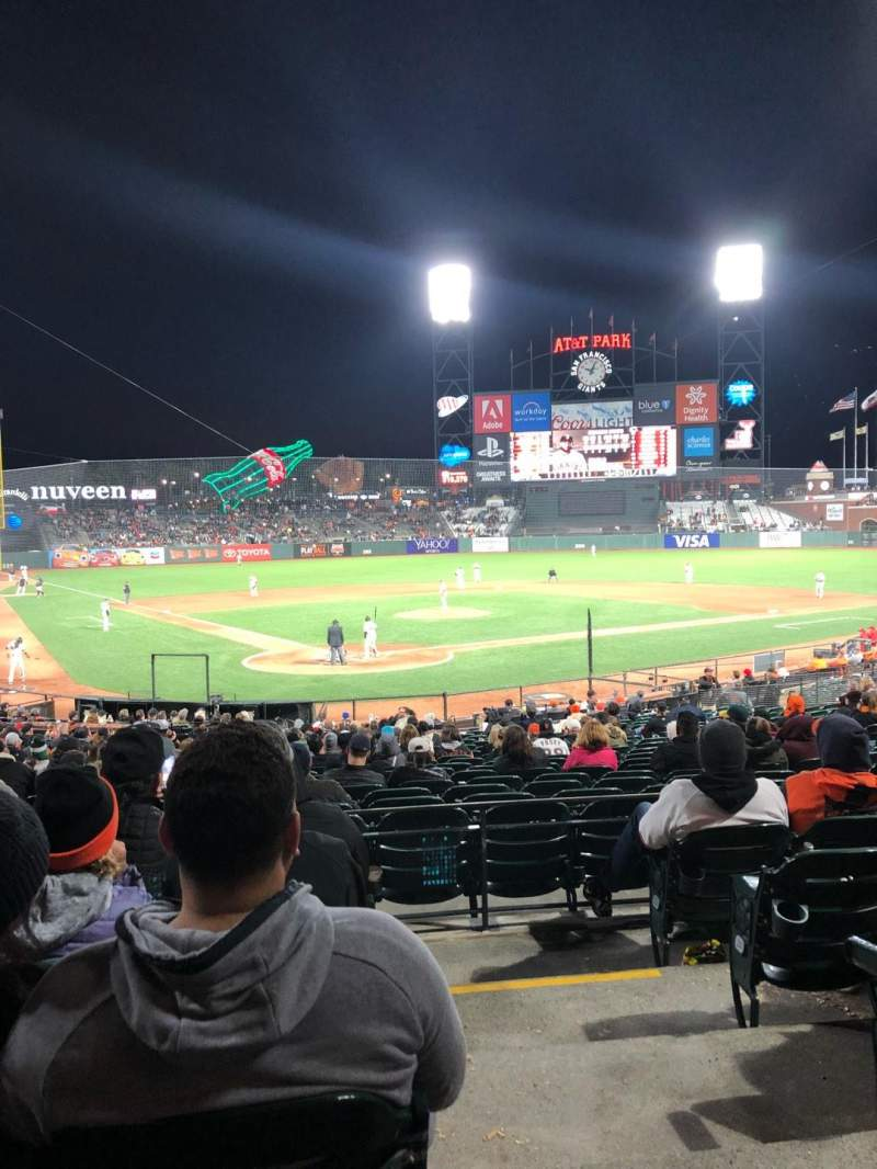 Seating view for Oracle Park Section 118 Row 29 Seat 10