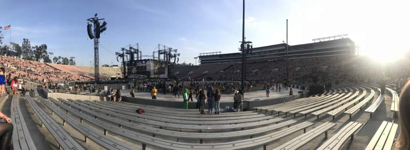Seating view for Rose Bowl Section 10-L Row 1 Seat 7