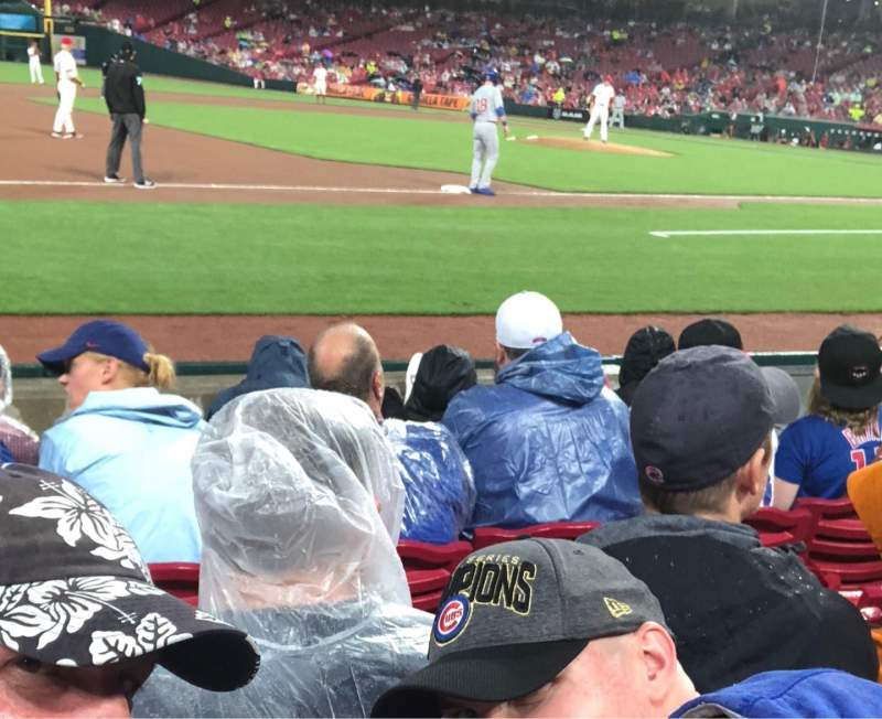 Great American Ball Park, section: 114, row: E, seat: 6