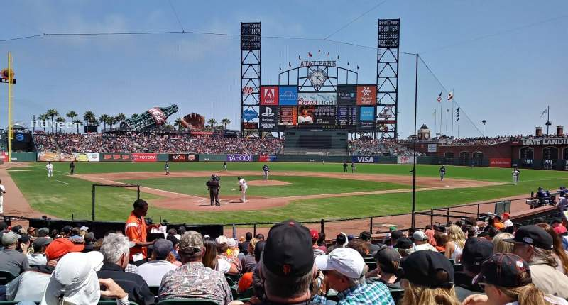 Seating view for Oracle Park Section 113 Row K Seat 14