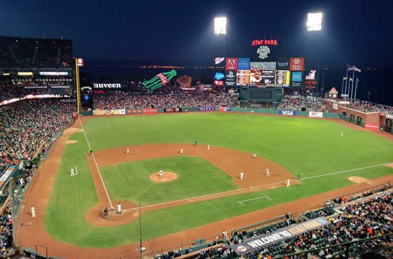 Seating view for Oracle Park Section VR310 Row 1 Seat 14