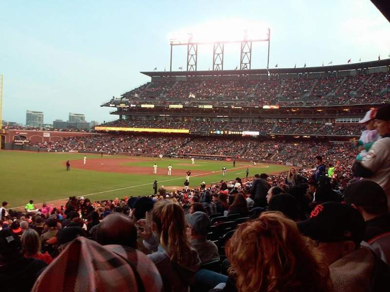 Seating view for Oracle Park Section 131 Row 31 Seat 6