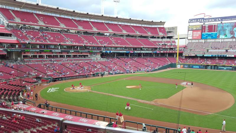 Great American Ball Park, section: 304, row: A, seat: 10