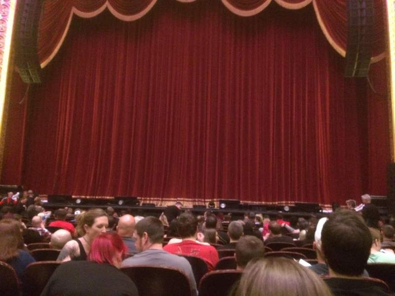 Seating view for Stifel Theatre Section Orchestra RC Row N Seat 5