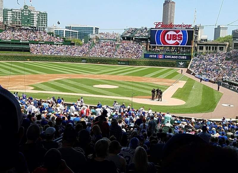 Seating view for Wrigley Field Section 218 Row 11 Seat 102