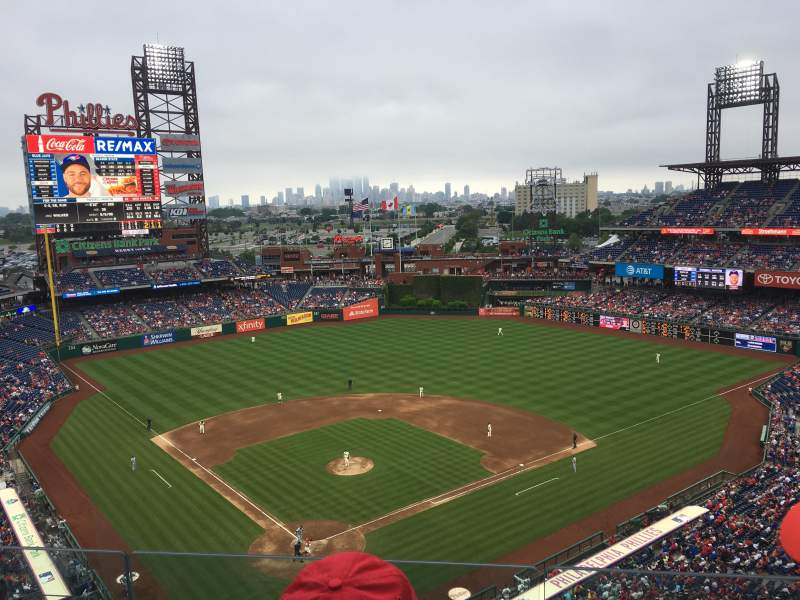 Seating view for Citizens Bank Park Section 419 Row 3 Seat 18