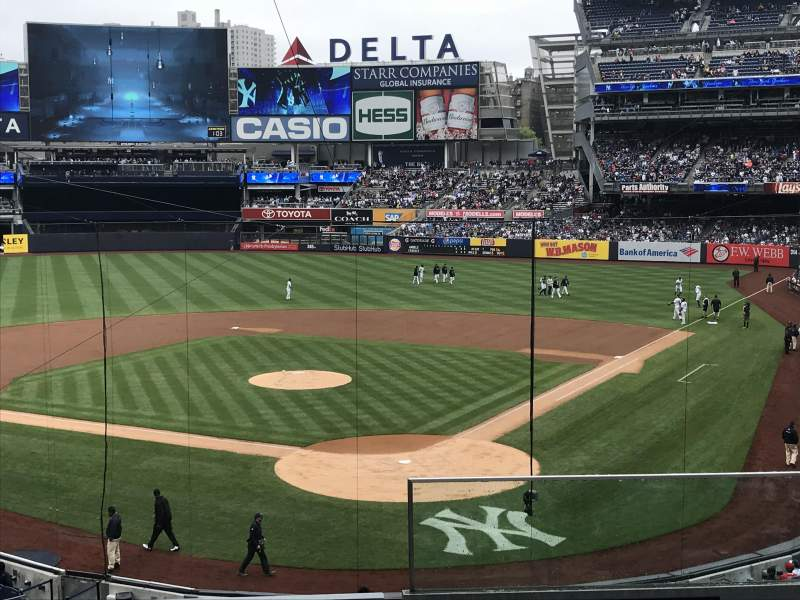 Seating view for Yankee Stadium Section 221a Row 4 Seat 1