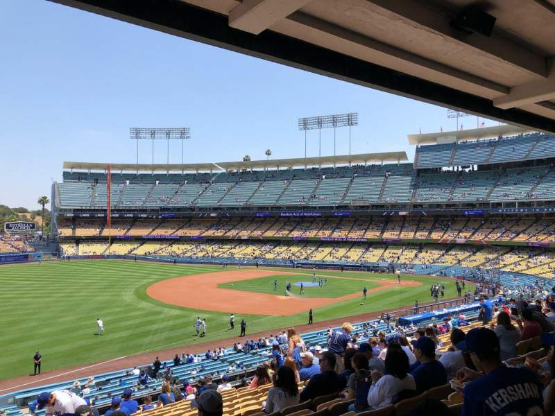Seating view for Dodger Stadium Section 155LG Row P Seat 4