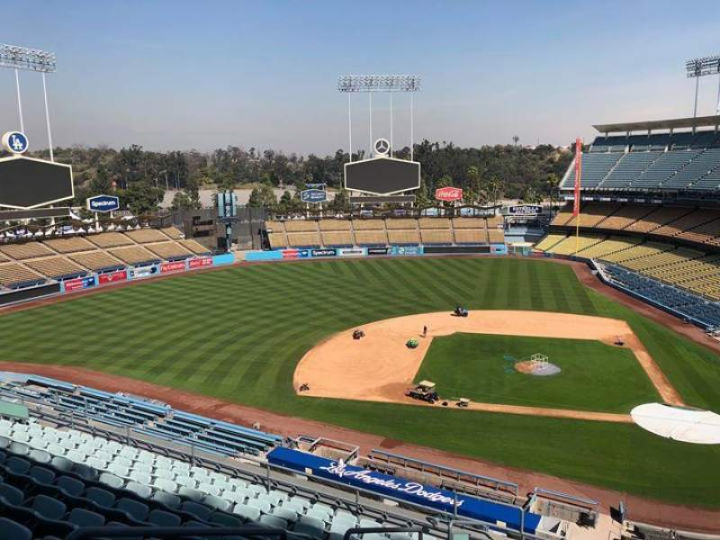 Seating view for Dodger Stadium Section 11RS Row L Seat 19