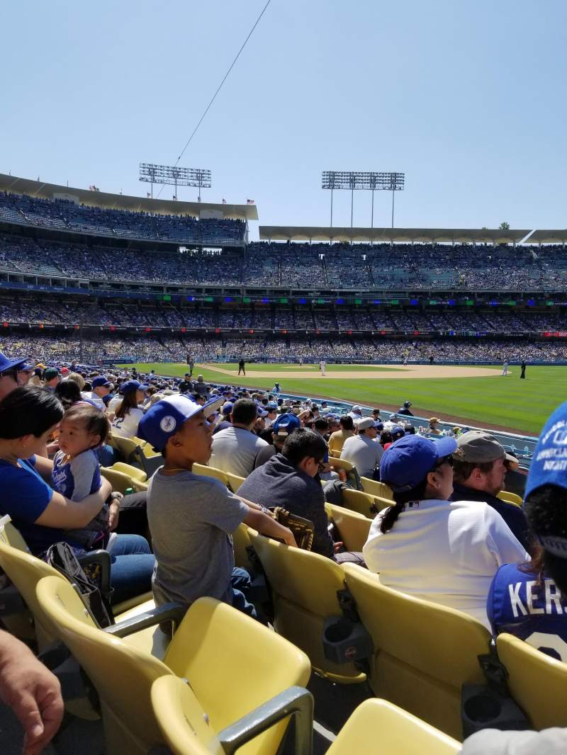 Seating view for Dodger Stadium Section 46FD Row K Seat 9