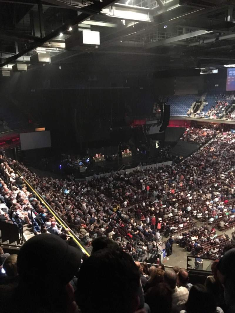 Seating view for Mohegan Sun Arena Section 115 Row M Seat 10