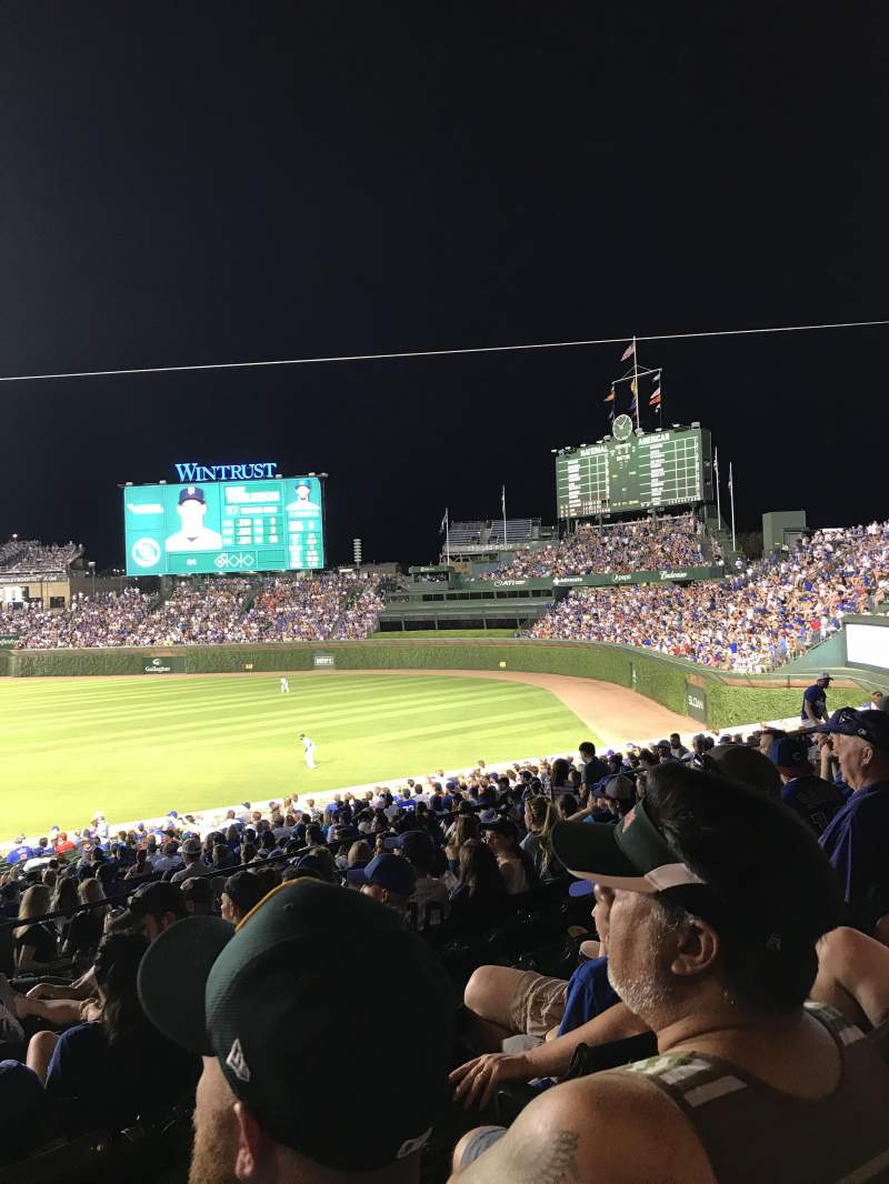 Seating view for Wrigley Field Section 239 Row 10 Seat 2