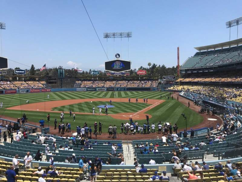 Seating view for Dodger Stadium Section 111LG Row B Seat 2