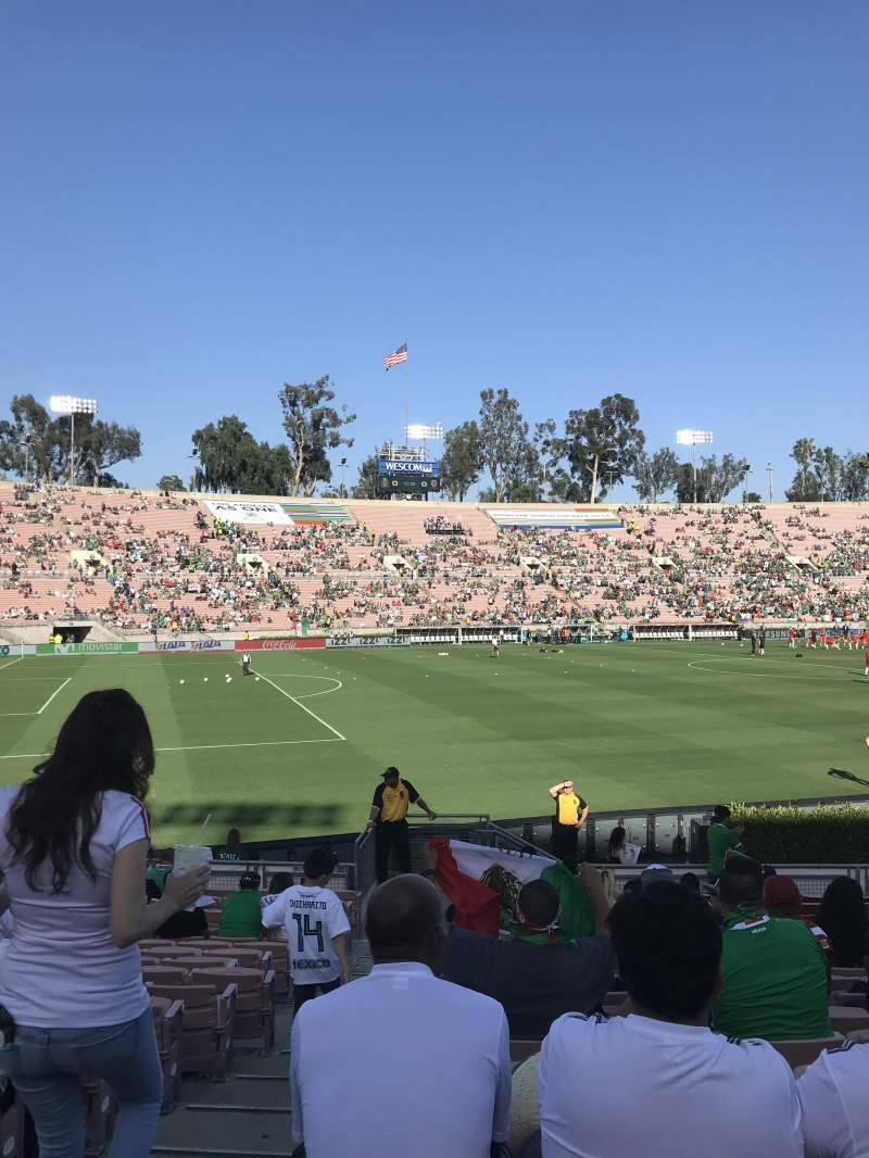 Rose Bowl, section: 16, row: 15, seat: 101