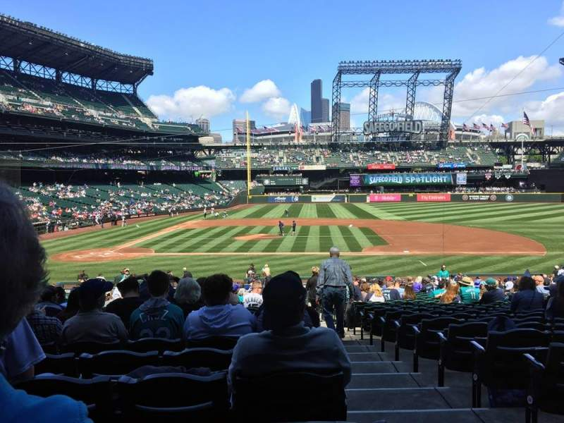 Seating view for T-Mobile Park Section 123 Row 32 Seat 1