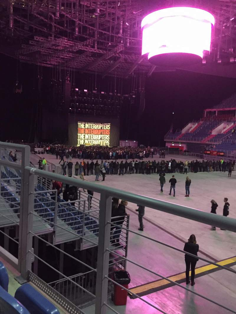 Seating view for Tauron Arena Krakow Section A08 Row 2 Seat 12