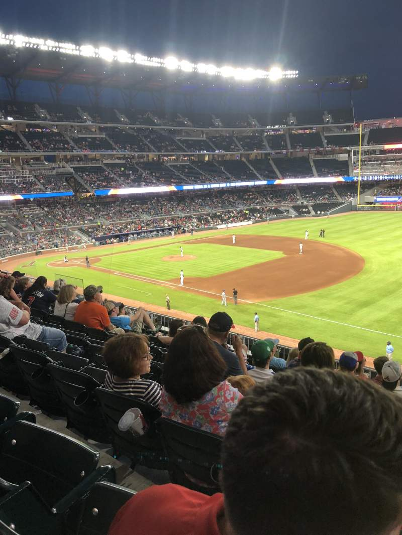 SunTrust Park, section: 215, row: 7, seat: 1