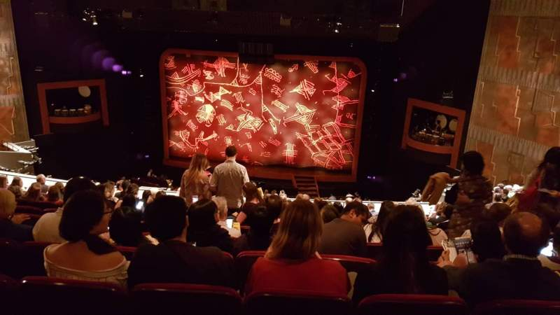 Seating view for Minskoff Theatre Section Mezzanine Row K Seat 138