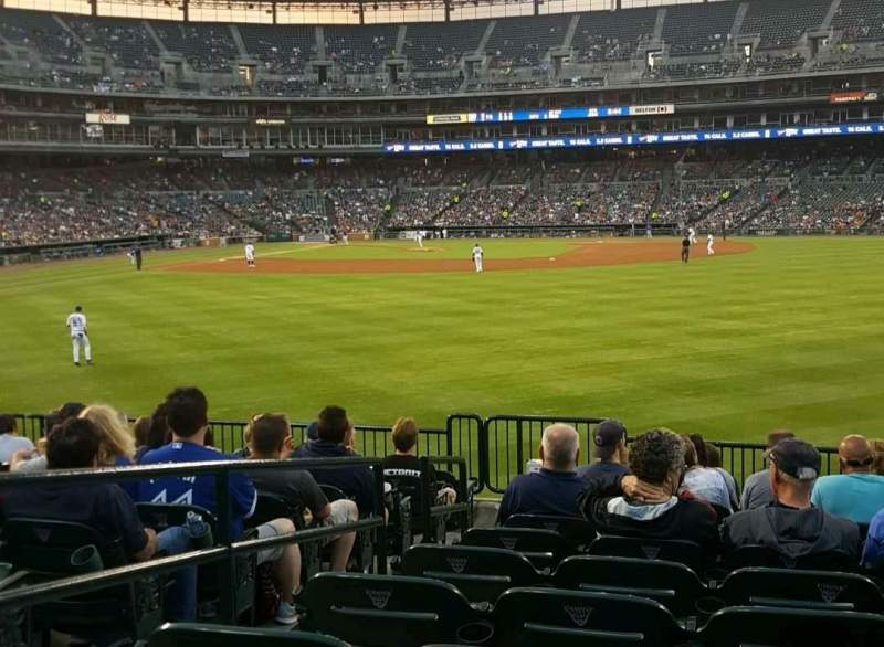 Seating view for Comerica Park Section 103 Row M Seat 14