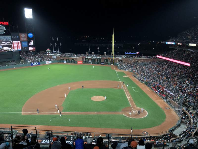 Seating view for Oracle Park Section VR321 Seat 9