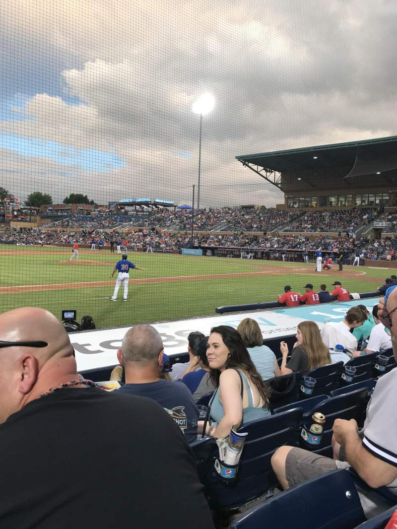 Seating view for Durham Bulls Athletic Park Section 111 Row H Seat 13